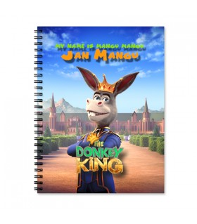 donkey king printed notebook